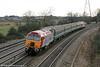 57305 'John Tracy' at Duffryn, bringing up the rear of 5U89, 1402 Taunton to Cardiff Canton ECS on 13th February 2010.