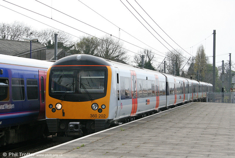 HC 360202 passes Acton Main Line, working the 1421 Heathrow Airport to London Paddington on 19th April 2010.