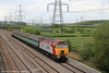 57309 'Brains' passes Duffryn at the head of 5U89, 1402 Taunton to Cardiff Canton ECS on 1st May 2010.