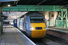 43277 waits at Edinburgh Waverley with the 0752 Aberdeen to London Kings Cross on 20th October 2010.