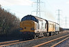 37259 brings up the rear of 2Q88, 0918 Robeston to Derby test train at Margam on 15th December 2010.