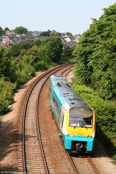 175005 descends Skewen Bank forming the 0709 Pembroke Dock to Manchester Piccadilly on 4th June 2010.