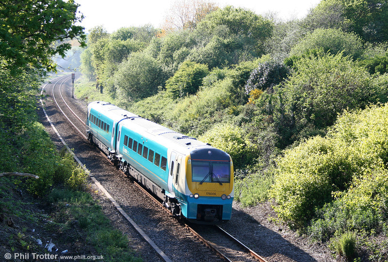 175006 climbs Cockett Bank with the 1704 Carmarthen to Manchester Piccadilly on 22nd May 2010.