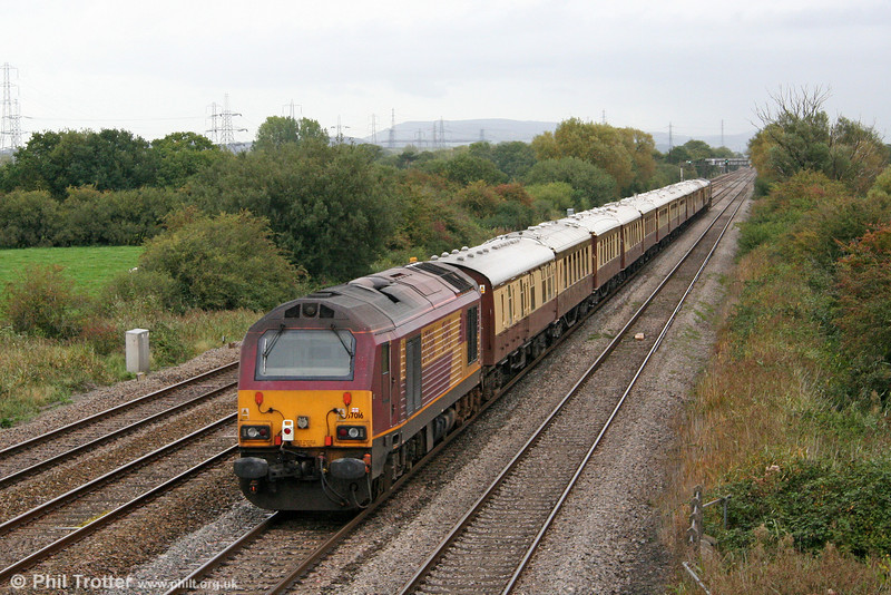 67016 at the rear of 5Z22, 1219 Pengam to Newport ADJ ECS on 2nd October 2010.