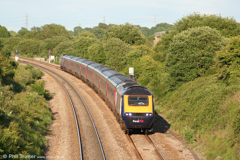 FGW's 1715 London Paddington to Swansea is seen at Pyle on 8th June 2010.
