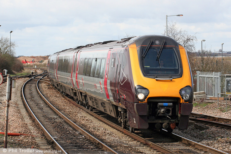 XC 220006 approaches Bristol Parkway with the 1123 Exeter St. Davids to Edinburgh on 28th March 2010.