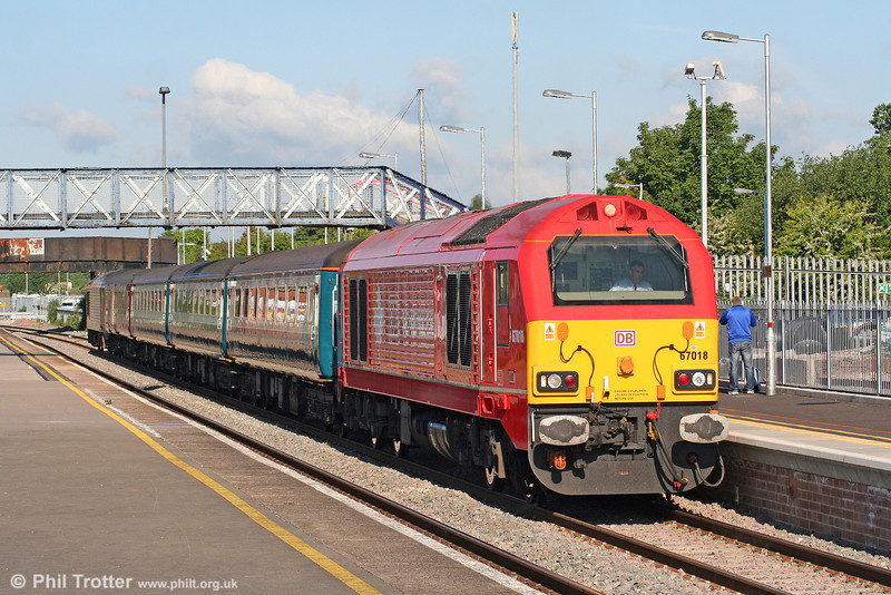 67018 'Keith Heller' departs from Severn Tunnel Junction with 2C67, 0800 Cardiff Central to Paignton on 28th May 2010.