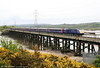 FGW's 43195 crosses Loughor Viaduct with 1B25, the 1037 London Paddington to Carmarthen on 16th May 2010.