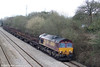 66194 passes Llandevenny with 6V92, 1018 Corby to Margam on 2nd April 2010.