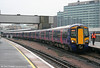 377520 pauses at East Croydon forming the 1237 Brighton to Bedford on 7th April 2010.