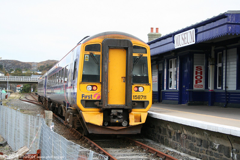 A second view of 158711 at Kyle of Lochalsh on 13th October 2010.