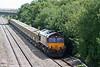 66030 heads through Llandevenny with 6B65, 1016 Westbury Yard to Newport ADJ on 8th July 2010.