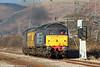 47832 'Solway Princess' heads 2Q88, 0918 Robeston to Derby test train past Margam on 15th December 2010.