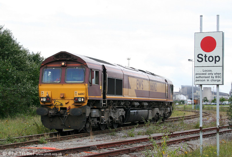 66012 emerges from the Grange Branch at Margam on 14th August 2010.