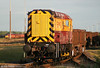 08737 continues its shunting at Margam Knuckle Yard on 8th June 2010. 60039 lurks in the background with 6B47.