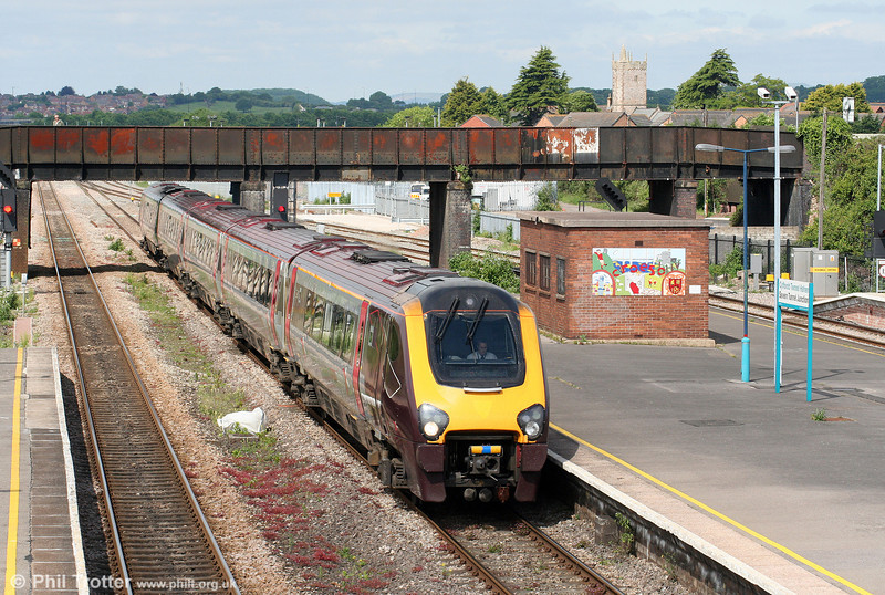 A XC class 221 heading for the north takes the Gloucester road at Severn Tunnel Junction on 31st May 2010.