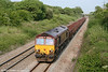 66165 descends Stormy Bank with 6V92, 1010 Corby to Margam on 21st May 2010.