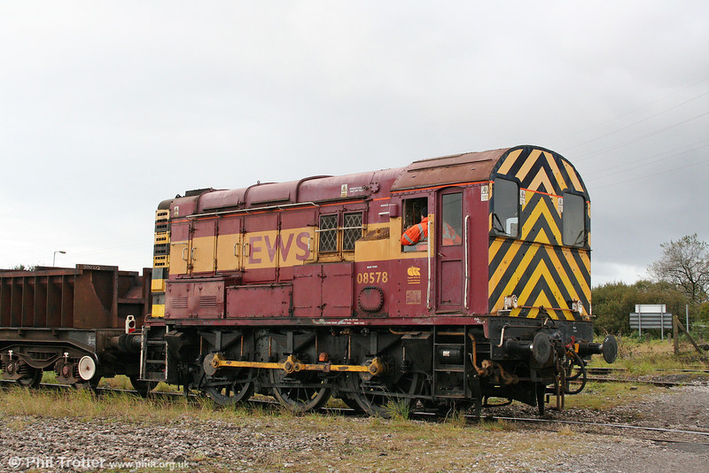 A second view of 08578 at Margam Knuckle Yard on 22nd October 2010.