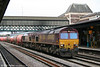 66197 and 66167 pass through Newport with 6B13, 0505 Robeston to Westerleigh on 6th April 2010.