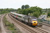 XC 43285 heads through Undy with 1V46, 0705 Leeds to Exeter St. Davids on 31st May 2010.