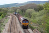 66060 at Miskin with 6B03, 0910 Trostre to Llanwern on 1st May 2010.