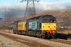 47832 'Solway Princess' heads 2Q88, 0918 Robeston to Derby test train past sunny Margam on 15th December 2010.