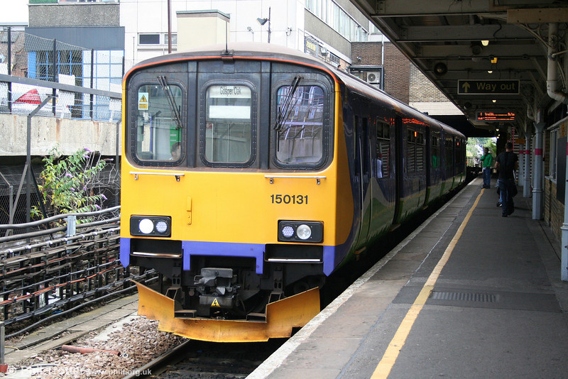 'Goblin' line 150131 waits to leave Barking with the 1339 for Gospel Oak on 31st July 2010.