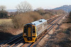 The 1054 Cardiff Central to Fishguard Harbour in the form of 158827, passes Nantyrhebog on 1st January 2010.