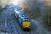 DRS 37259 passes Llangyfelach with 2Q88, 0453 Swansea to Whitland via freight branches test train on 14th December 2010.