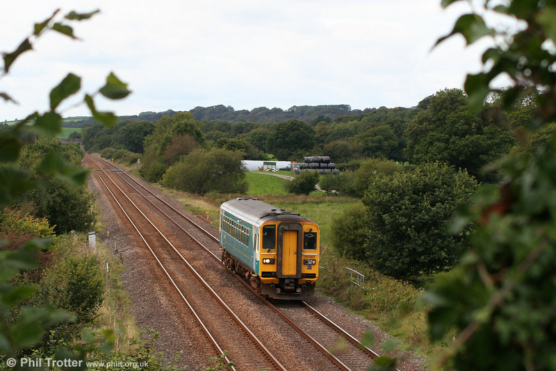 153303 at Nantyrhebog with the 1105 Pembroke Dock to Swansea on 18th September 2010.