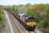 66250 climbs Stormy Bank with 6H25, 0956 Margam to Llanwern steel slabs on 8th May 2010.