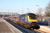 43041 heads the 0955 Cardiff to London Paddington through the new up platform at STJ on 4th January 2010.