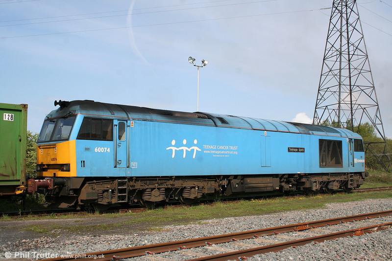 60074 'Teenage Spirit' goes about its shunting work at Margam Knuckle Yard on 15th May 2010.