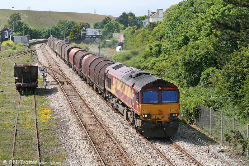 66149 at Aberthaw with 6O78, 1420 Margam to Dollands Moor on 13th June 2010.