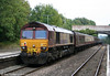 66015 brings up the rear of 1Z51, 1430 Robeston to Crewe the return 'Western Wales Explorer' at Clarbeston Road on 18th September 2010.