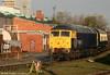 Riviera Trains 47843 'Vulcan', seen at Crewe Diesel Depot on 3rd November 2010.