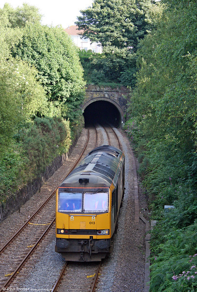 60013 'Robert Boyle' emerges from the 924 yard Lonlas Tunnel on the Swansea District Line, running as 0A11, 1754 Margam to Robeston on 2nd August 2010.