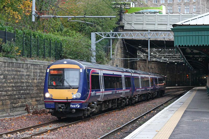 170393 departs from Edinburgh Waverley on 18th October 2010.