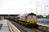 66099 passes Severn Tunnel Junction with 6B49, 0819 Llanwern to Swindon on 2nd April 2010.