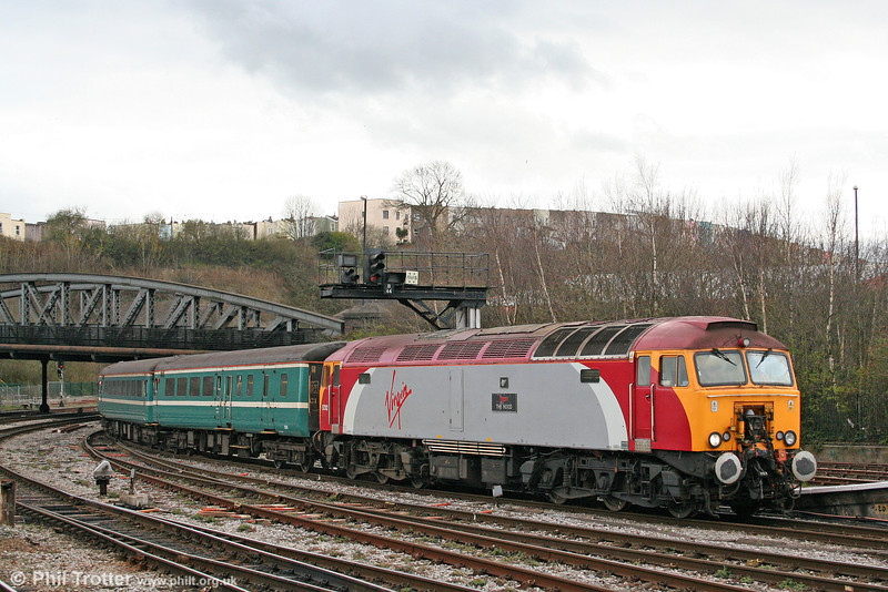57312 'The Hood' arrives at Bristol Temple Meads with 2U24, 1616 Taunton to Cardiff Central on 5th April 2010.