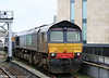 DRS 66430 stabled at Cardiff Central on 5th April 2010.