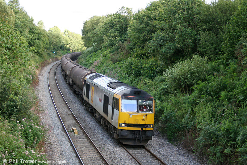 60013 'Robert Boyle' passes Allt-y-Graban, Swansea District Line, with 6B07, 1800 Margam to Robeston on 4th August 2010.