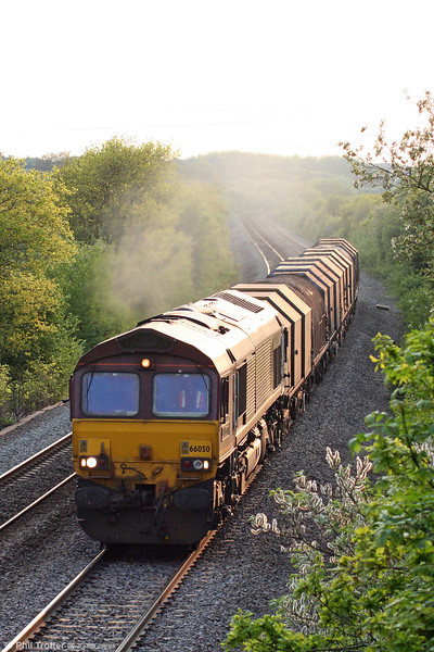 66050 'EWS Energy'on Stormy bank with 6E20, 1835 Margam to Immingham Sorting Sidings on 21st May 2010.