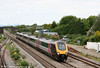 Having reversed at Newport, XC 221135 heads back through Magor on 31st May 2010.