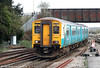 ATW's 150267, on hire to FGW, arrives at Westbury forming the 0826 service from Great Malvern on 6th April 2010.