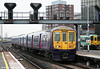 The second class only 319/3s were rebuilt from Class 319/1 in 1997-1999. 319373 arrives at East Croydon forming the 1110 Bedford to Brighton on 7th April 2010.