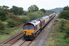 66015 passes Nantyrhebog with 1Z50, 0650 Crewe to Robeston, 'The Western Wales Explorer' on 18th September 2010.