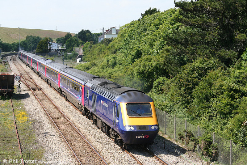 43140 is seen at Aberthaw with the 1355 Swansea to London Paddington on 13th June 2010.