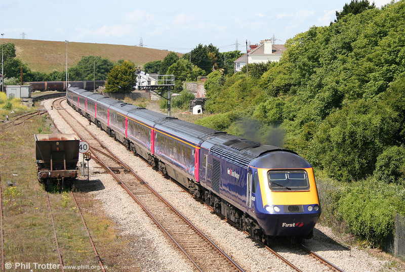 43143 'Stroud 700' accelerates through Aberthaw with the 1255 Swansea to London Paddington on 27th June 2010.