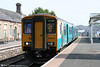 150213 pauses at Llandrindod Wells while working the 0905 Shrewsbury to Cardiff Central on 5th June 2010.